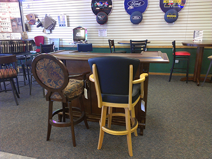 California House Poker Table Group With 4 Chairs Your Choice Of 25 Finishes  And Over 100 Fabric Choices